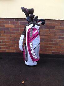 Wilson ladies golf clubs, brand new.