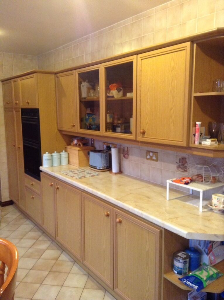B q oak kitchen units including buy sale and trade ads for High level kitchen units