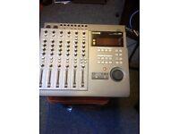 Sony mini disc 4 track recorder with phantom power unit for studio condenser microphones.