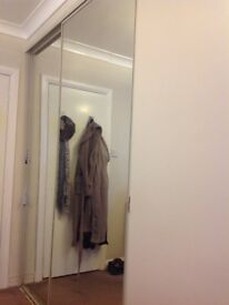 2 sliding mirror wardrobe doors with track