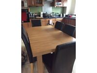 Extendable Oak Table & Chairs