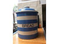 Cornishware family size breadbin. Perfect condition