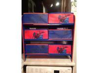 2 x Spider-man storage units