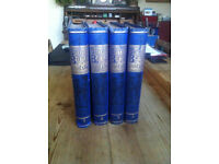 Set of four antique history books British Battles on Land and Sea