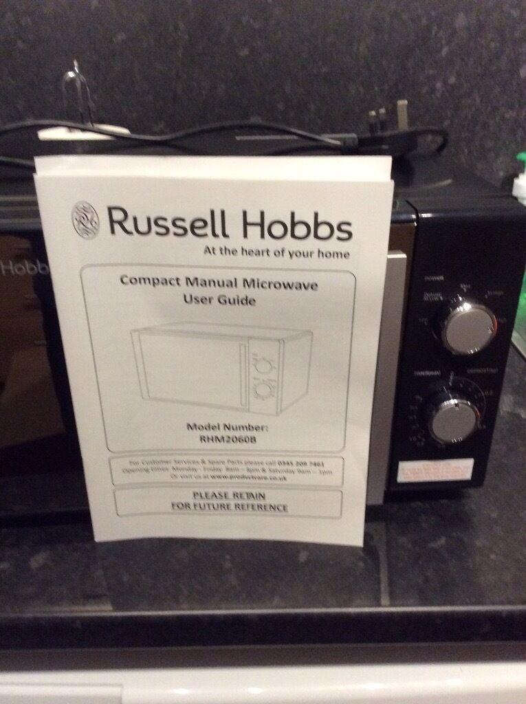 Russell Hobbs Microwavein Kelso, Scottish BordersGumtree - 800 watt microwave Bought new in February Black in colour Genuine reason for sale