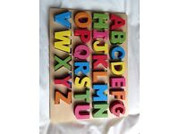 Wooden alphabet toy