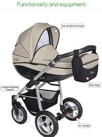 Pram pushchair 3 in 1