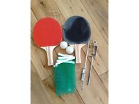 Table tennis set. Fits table