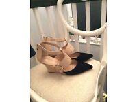 Mint velvet ladies wedge sandals size 6/39