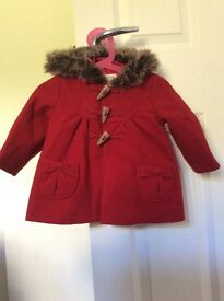 Girls Monsoon coat age 6-12 months