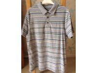 Men's Clothing Grey Stripe Short Sleeve T-Shirt from Rocha J Rocha Size Medium NEW