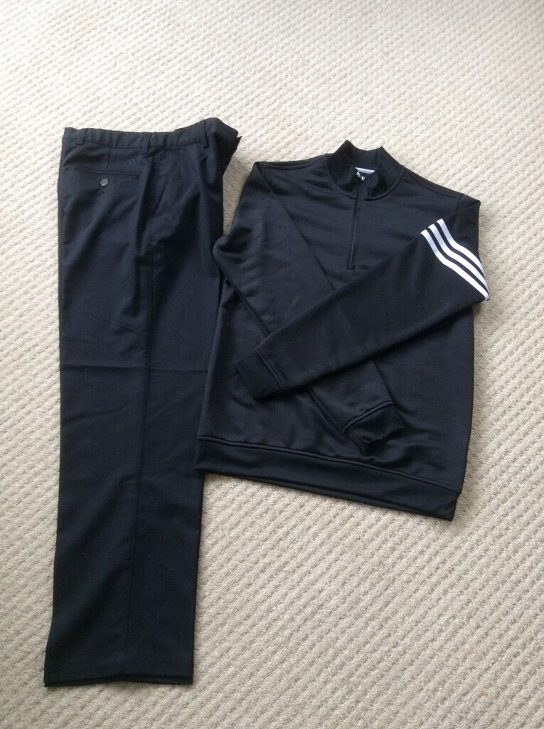 Adidas junior golf sweater & trousers