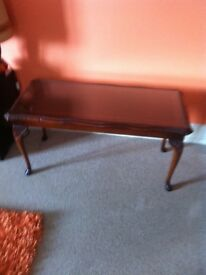 OBLONG COFFEE TABLE WITH GLASS TOP - IDEAL SHABBY CHIC