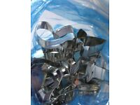 Stainless Steel Cookie Cutters, all number.