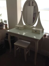 LOVELY GIRL/TEEN IKEA DRESSING TABLE WITH STOOL - LOVELY CONDITION