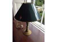 Green wooden lamp