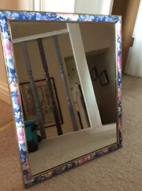 Vintage style floral wall mirror
