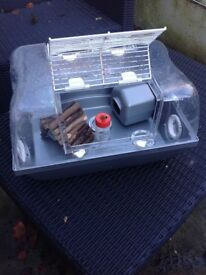 Hamster cage, suitable for dwarf. Including accessories. Full set up kit