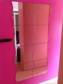 Ikea Wavy Mirrors x 8