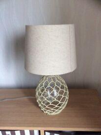 Lamp base and matching shade.