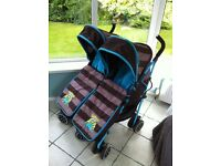Optimum Twin Stroller/Buggy/Pushchair
