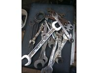 Bag of used spanners