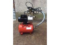 Grundfos pump and pressure tank
