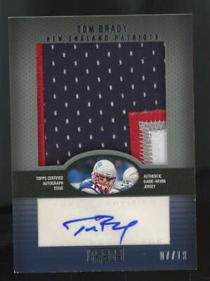 2009 Topps Unique Tom Brady 7/10 Auto Autograph Game Used Jumbo Patch Jersey
