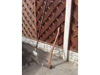 Lawn rake and axe