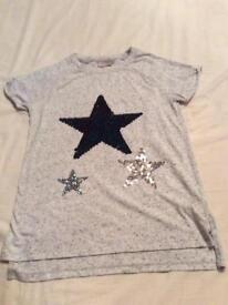 Next girls glittery star tunic age 11 years