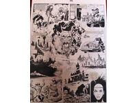 2000AD ORIGINAL BLACK INK COMIC ART PAGES.