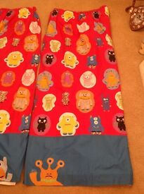 Next children's fully lined curtains 90 x 72