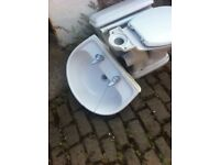 Toilet system & sink