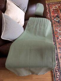 2 pairs John Lewis made, sage colour, linen weave type, vgc