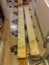 Engineered oak wood flooring (UNUSED). 8 lengths. 180mm (width) x 2000mm (length)