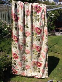 Pair of Laura Ashley curtains + blackout curtains to fit