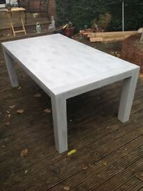 painted/varnished grey wash table