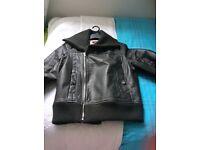 Ladies Roxy real leather biker style jacket.