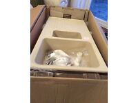 Brand new ivory composite sink & drainer