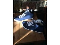Topman Navy canvas high tops.