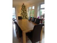 Marks and Spencer Sonoma extending oak table extra large