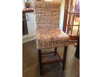 Sea grass bar stool x 2
