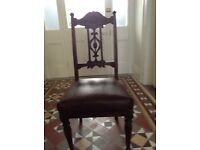 Four Edwardian high back chairs