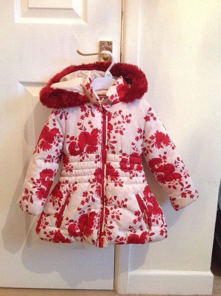 Girls M&S Coat age 3-4