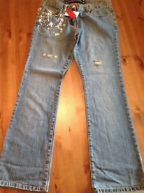 River Island Ladies Size 12 Jeans (Limited Edition New with Tags)