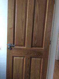 Solid Oak Doors - set of 5 high quality internal doors £200