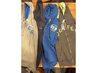 Four men's hooded Duffer tops in XL/XXL