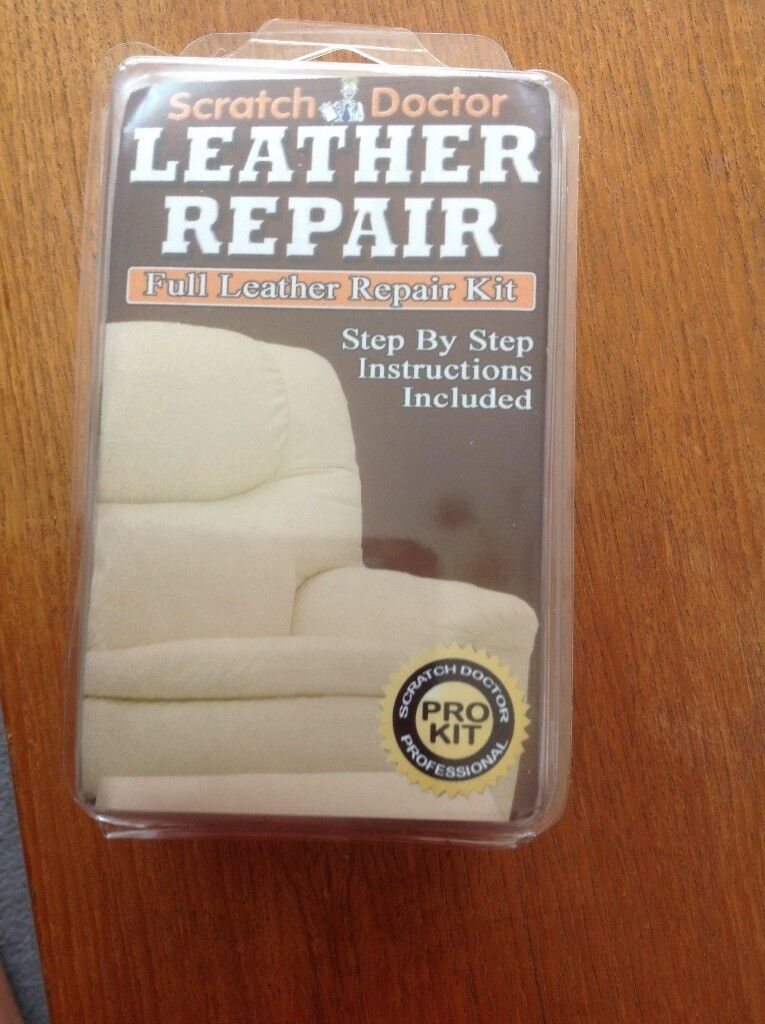NEW Leather sofa repair kit- brown | in Leicester, Leicestershire | Gumtree