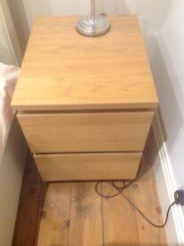 Light Oak look bedside table