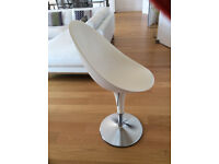 Iconic Bombo Chair, White, Height adjustable.